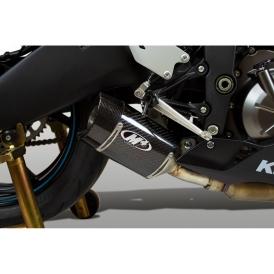 M4 KA6914 Carbon Fiber Street Slayer Slip On Exhaust for Kawasaki ZX-6R  (2019-)