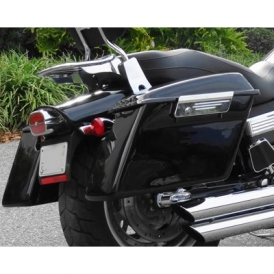 TKY Quick Release Hard Saddlebags, 25 Liter for Harley-Davidson Fat