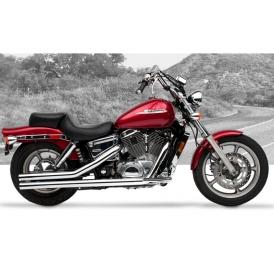 Hard Krome American Classic Ii Exhaust Shadow Spirit 1100 97 Up