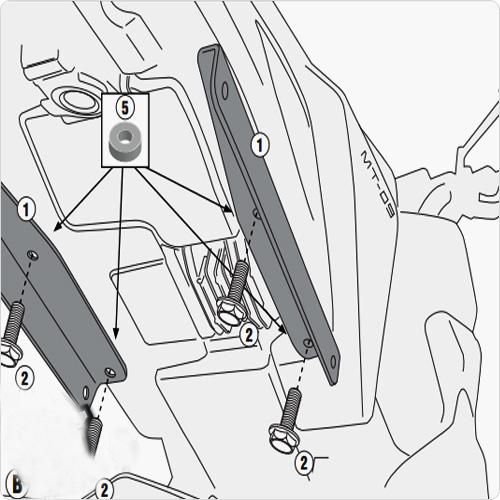 Givi 2115kit Pannier Fitting Kit For Yamaha Fj 09 2013 Current