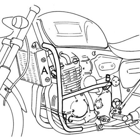 Hepco Becker 501 701 Engine Guard Chrome For Triumph Thunderbird