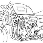 Hepco Amp Becker 501 720 00 02 Engine Guard Chrome For