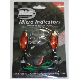 R/&G RACING PAIR FRONT MICRO INDICATORS LED VERSION ROAD LEGAL