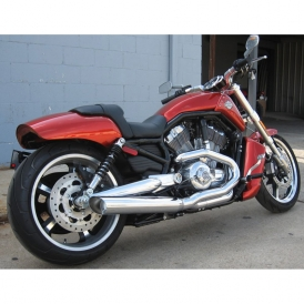 D&D Fat Cat 2:1 Exhaust System, Chrome for Harley-Davidson Nightrod