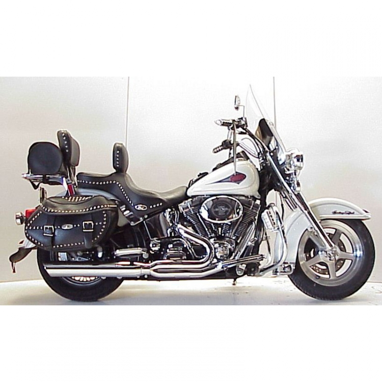 D&D Fat Cat 2:1 Exhaust, Chrome for Harley-Davidson Heritage Softail  (2012-current)